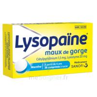 LYSOPAÏNE Comprimés à sucer maux de gorge sans sucre 2T/18 à Saint -Vit