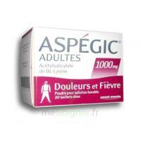 ASPEGIC ADULTES 1000 mg, poudre pour solution buvable en sachet-dose 20 à Saint -Vit