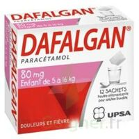 DAFALGAN 80 mg Poudre effervescente pour solution buvable B/12