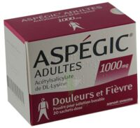 ASPEGIC ADULTES 1000 mg, poudre pour solution buvable en sachet-dose 15 à Saint -Vit