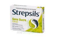 Strepsils Citron Sans Sucre, Pastille édulcorée à L'isomalt, Au Maltitol Et à La Saccharine Sodique à Saint -Vit