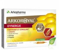 Arkoroyal Dynergie Ginseng Gelée Royale Propolis Solution Buvable 20 Ampoules/10ml à Saint -Vit