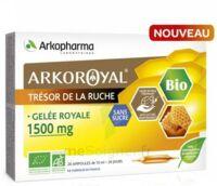 Arkoroyal Gelée royale bio sans sucre 1500mg Solution buvable 20 Ampoules/10ml à Saint -Vit