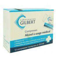 ALCOOL A USAGE MEDICAL GILBERT 2,5 ml Compr imprégnée 12Sach à Saint -Vit