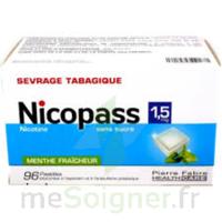 Nicopass 1,5 Mg Pastille Sans Sucre Menthe Fraîcheur Plq/96 à Saint -Vit