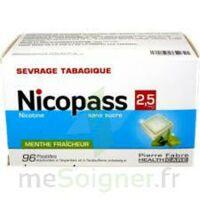Nicopass 2,5 Mg Pastille Menthe Fraîcheur Sans Sucre Plq/96 à Saint -Vit