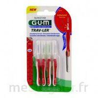 GUM TRAV - LER, 0,8 mm, manche rouge , blister 4 à Saint -Vit
