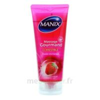 Manix Gel comestible de massage fraise 200ml