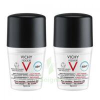 Vichy Homme Déodorant anti-transpirant anti trace 48H 2*Billes/50ml à Saint -Vit