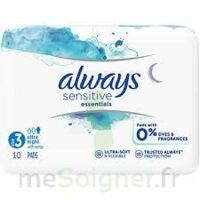 Always Serviettes Sensitives Essentials - Nuit à Saint -Vit