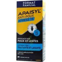 Apaisyl Anti-poux Xpress 15' Lotion antipoux et lente 100ml+peigne à Saint -Vit